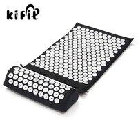 KIFIT Acupressure Massage Cushion Pillow Mat Yoga Bed Pilates Nail Needle Pressure Shakti Neck Relieve Stress