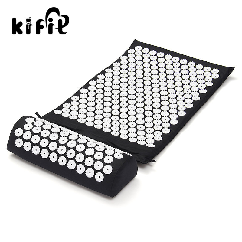 KIFIT Acupressure Massage Cushion Pillow Mat Yoga Bed Pilates Nail Needle Pressure Shakti Neck Relieve Stress HealthCare