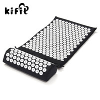 KIFIT Acupressure Massage Cushion Pillow Mat Yoga Bed Pilates Nail Needle Pressure Shakti Neck Relieve Stress