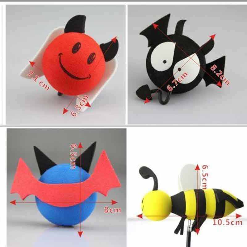 Black Wings Red Demon Long Tail White Angel Little Adorable Cartoon Doll Antenna Ball Aerial Topper Decoration Car Roof Ornament