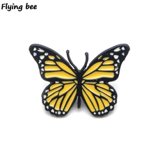 Flyingbee Animal Butterfly Enamel Pin For Clothes Bags Backpack badge Personality Brooch Shirt Lapel Pins X0224