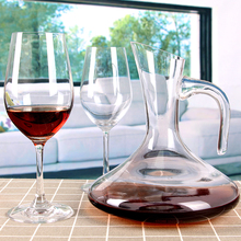 Reinforced Glass Wine Decanter Lead-Free Decorative Red Wine Carafe Aerating Wine Pourer Luxury Wine Accessories Hand Blown Gift
