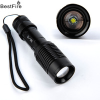 BestFire CREE XM L T6 Aluminium Alloy LED Flashlight T6 Zoom In And Out Of The