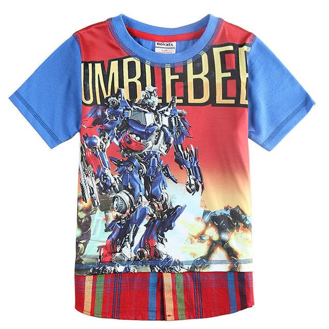 Varejo menino camiseta nova crianças marca 2015 crianças novas roupas 100% blusa de algodão roupas de bebê menino camisetas de manga curta C5852D