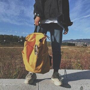 Image 4 - Solid Color Multifunctional Bag Canvas Backpack Women Mochila School Bag For Travel Backpacks School Backpack For Girls
