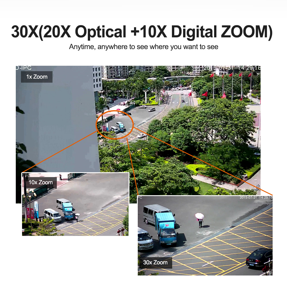 1080 P 2MP PTZ IP caméra POE 30X ZOOM étanche 4MP 5MP Mini vitesse dôme caméra extérieure H.264 IR 50 M CCTV caméra de sécurité 48 V POE - 5