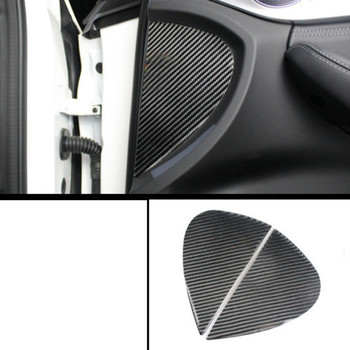 lsrtw2017 carbon fiber car front door Groove sticker trims for mercedes benz w205 x253 glc200 glc300 glc260 c180 c200 c300 image