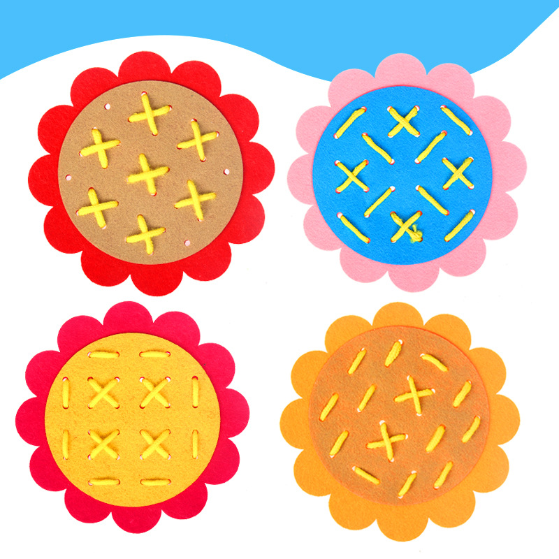 Wearing Laces Threading Kindergarten Manual Diy Weave Cloth Early Learning Education Toys Montessori Teaching Aids Math Toys