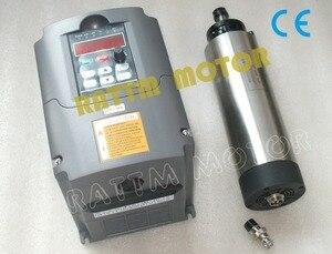 Image 2 - EU 무료 VAT CNC 1.5KW 220V 공냉식 스핀들 모터 ER11,24000rpm 및 1.5kw 인버터 VFD 2HP 220V CNC 라우터 조각 밀링 용