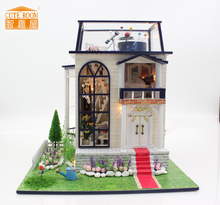 Furniture DIY Doll House Wodden Miniatura Doll Houses Furniture Kit Puzzle Handmade Dollhouse Toys For Children girl gift 13837