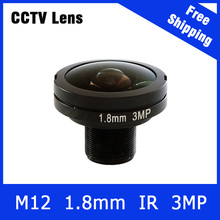 3.0Megapixel Fixed M12 HD CCTV fisheye Camera Lens 1.8mm For 3MP/IP Camera Free Shipping