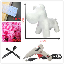 Artificial Flowers Rose Dog Anniversary Valentine's Day Gift Birthday Mother Present DIY Rose Flower Gifts цена