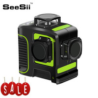12Lines 3D Green Laser Level Lines 360 Green Laser Levels Can Use Receiver Vertical Cross Super Powerful Green Laser Beam Line