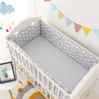 Cloud Rain Point Printing Baby Bedding set 7pcs/sets Cotton Crib baby Cot bumpers bed sheet duvet cover nursery for Baby