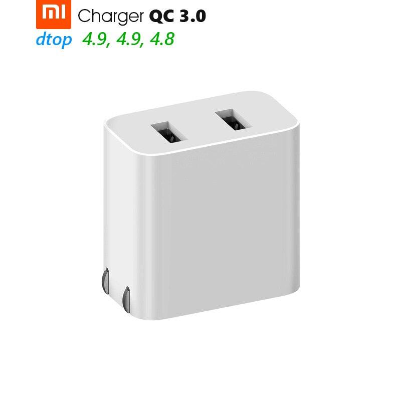imágenes para Original Xiaomi Cargador de Viaje QC3.0 Lindo Mini Portátil de Carga Rápida 9 V = 2A/12 V = 1.5A/5 V 2.4A Max = 18-20 W Doble Puerto USB