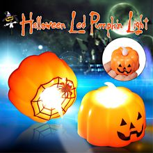 2pcs Classic Candle Lantern Pumpkin LED Lamp Durable Indoor Spid Web Mini Pumpkin Lamp Halloween Party Decoration(China)