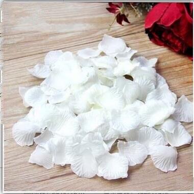 2000 шт. / партия 5* 5 см шелковые лепестки роз на свадьбу, Романтические искусственные лепестки роз Свадебные розы - Цвет: Ivory