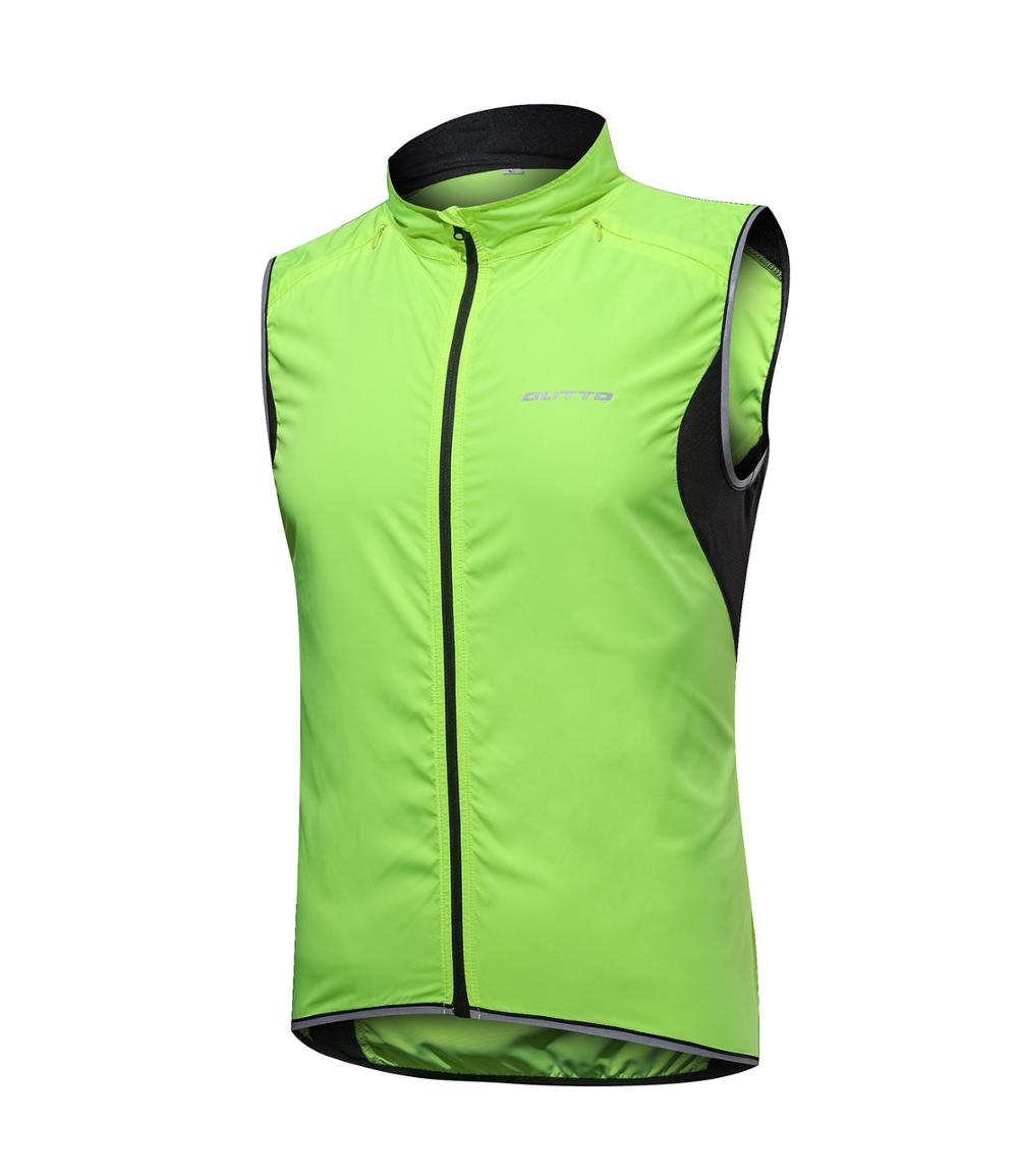 Outto Windproof Waterproof Cycling Vest MTB  Bicycle Breathable Reflective Gilet Sleeveless Bike Jacket
