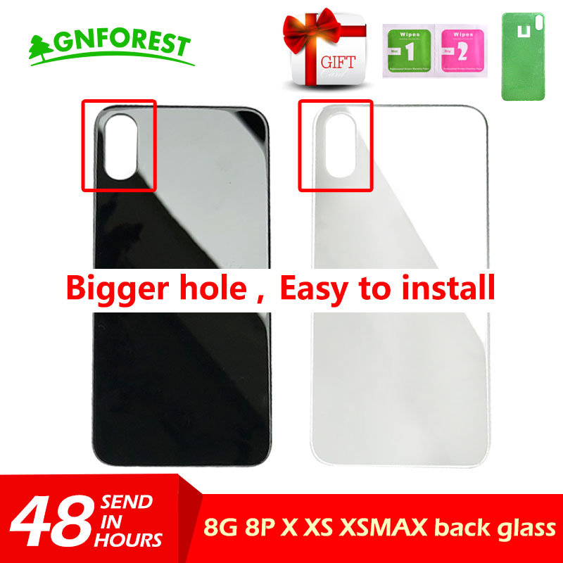 Back-Cover Rear-Housing Big-Hole iPhone X Glass 8-Plus for 8-plus/8/Xs/.. with