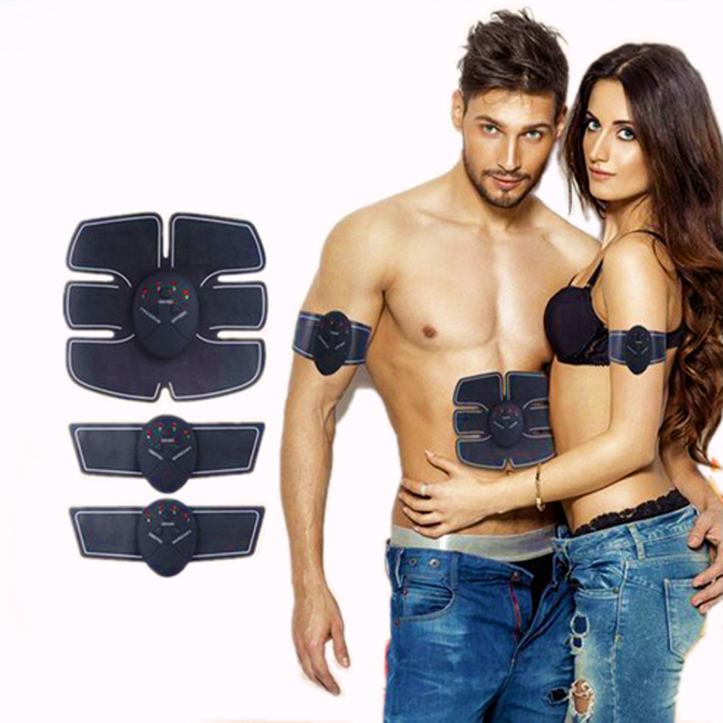Electric Abdominal Muscle Stimulator EMS Body Slimming Muscle Exerciser Intensive Training Belts Fat Burner massager without box 2017 hot sale mini electric massager digital pulse therapy muscle full body massager silver