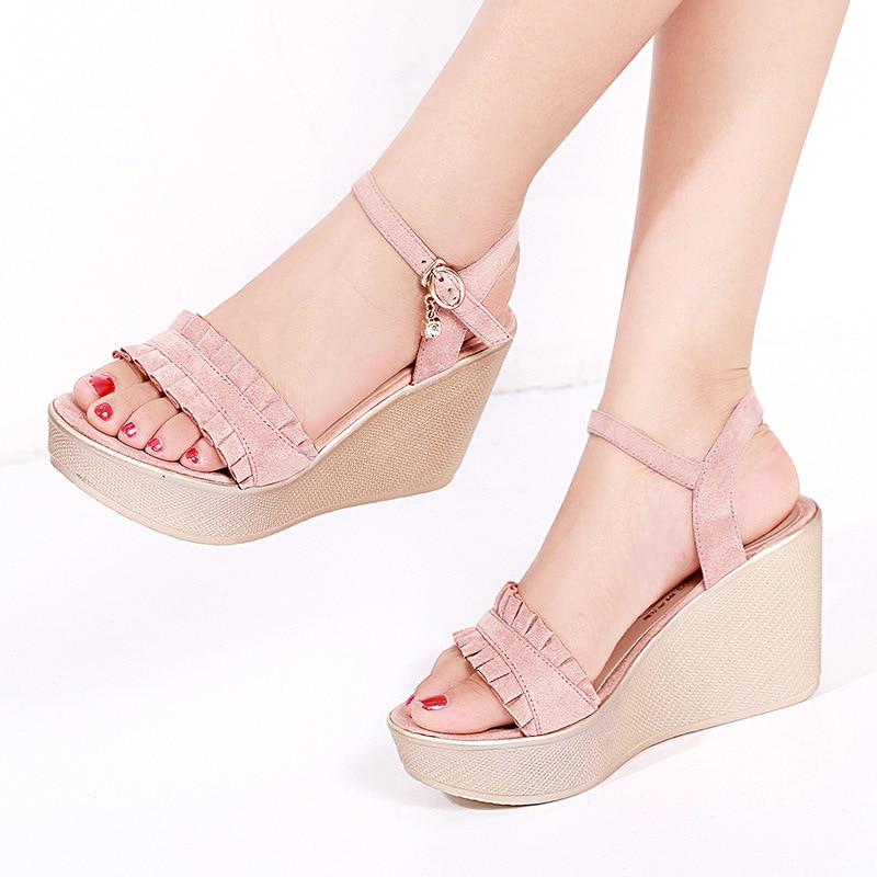 Sandals Women Summer 2019 New Peep Toe