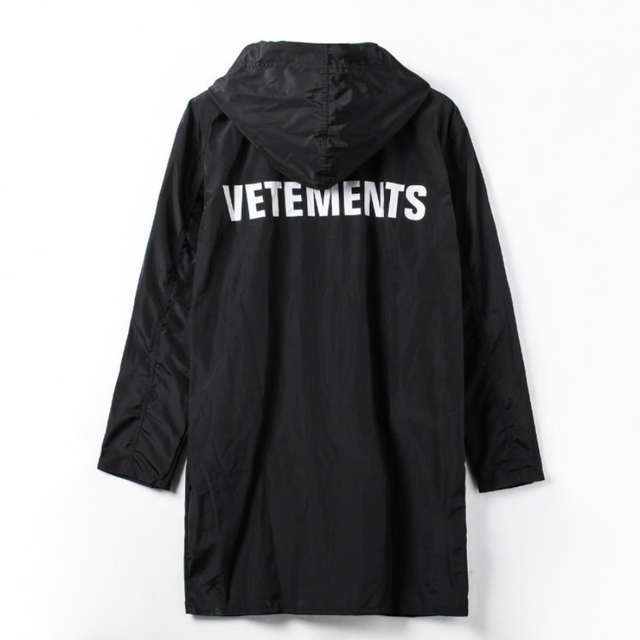 VETEMENTS POLIZEI НЕГАБАРИТНЫХ KANYE WEST Куртка Big Bang Расширенные Дождем Пальто Мужчины Женщины Ветровка Водонепроницаемая Куртка Пальто