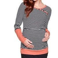 Nursing Tops Maternity Shirt Breastfeeding Clothes For Pregnant Women Fashion Style Cotton Comfortable Nursing Clothes