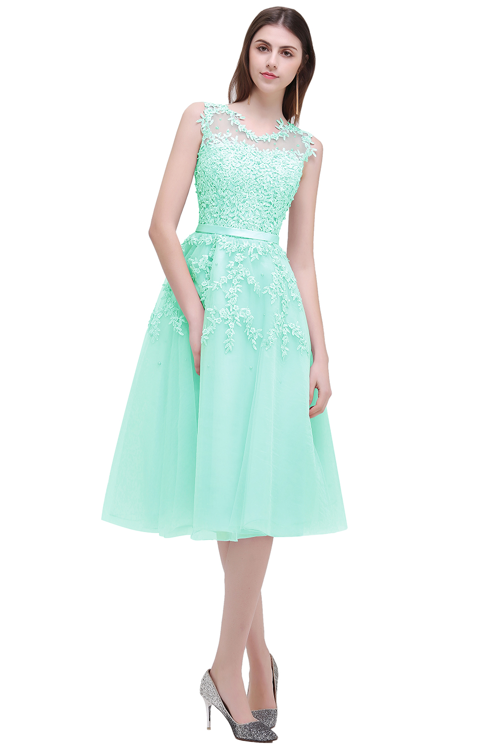 Robe Demoiselle D\'honneur Cheap Lace Top Short Bridesmaid Dresses ...