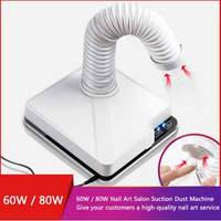 60W/80W New Strong Power Nail Dust Collector Nail Fan Art Salon Suction Dust Collector Machine Vacuum Cleaner Fan