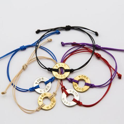 Free Size Wax String Brand Pura Vida Clic Bracelet Cotton Adjule Circle Love Charms Friendship In Charm Bracelets From Jewelry