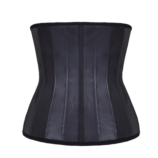 a1398d85f Women s Latex Underbust Corset Waist Training Cincher 25 Steel Boned  Bustiers Slimming Belt Shaper for Weight Loss Tummy Control