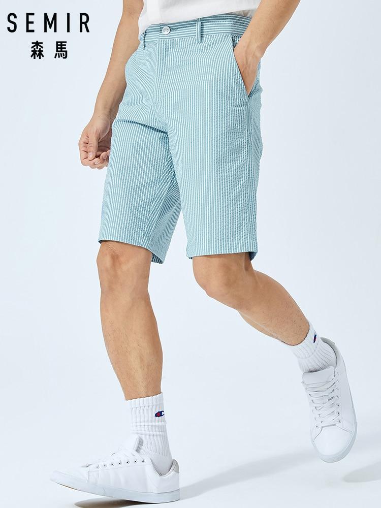 SEMIR Summer Casual Shorts Men Cotton Comfortable Shorts 2019 New Korean Vertical Stripes Men's Shorts Tide Brand