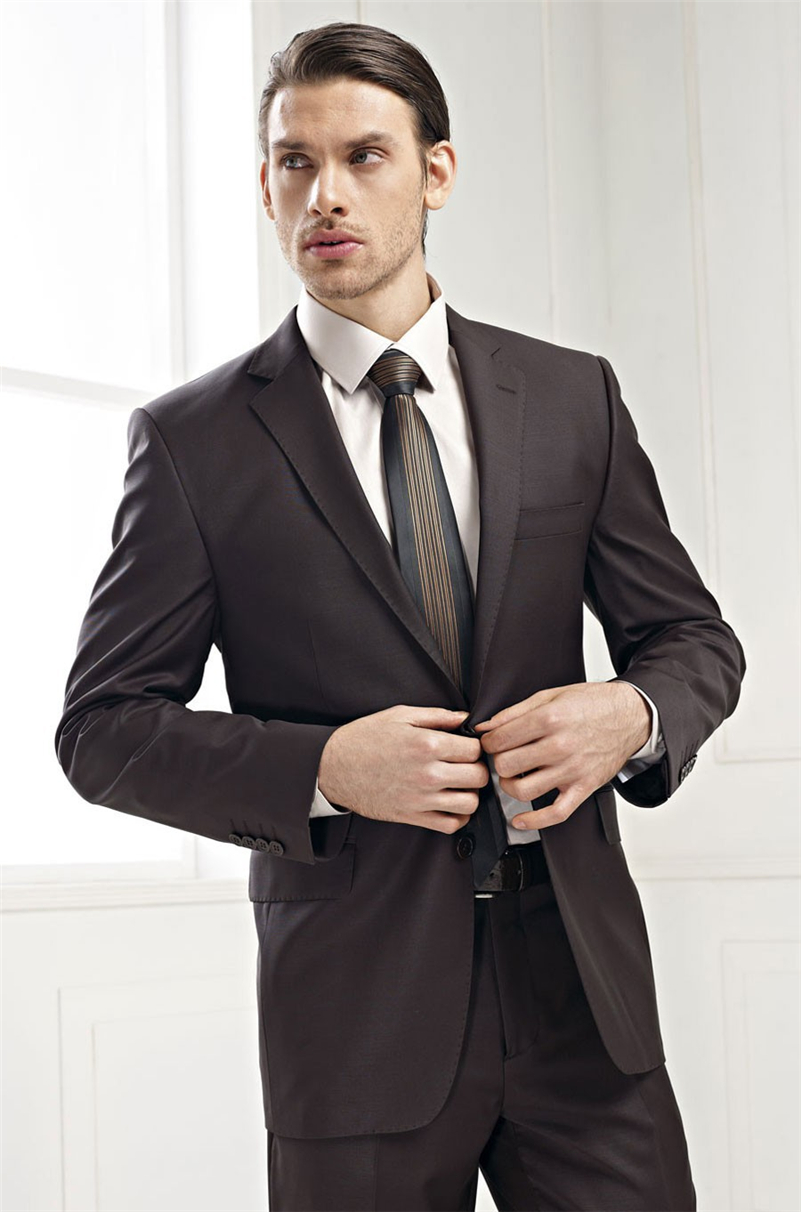 High Quality Dark Brown Suit-Buy Cheap Dark Brown Suit lots from