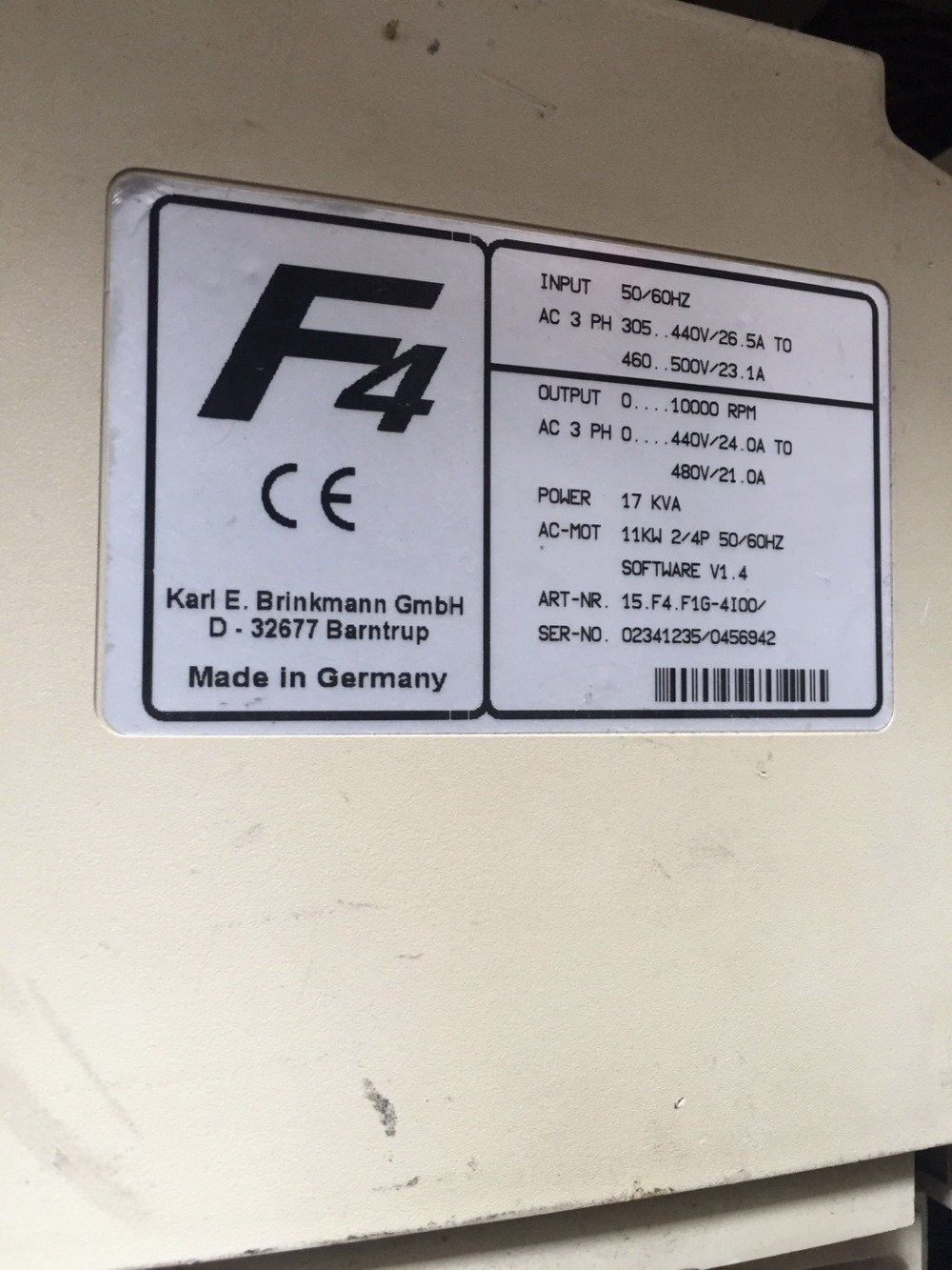 15.F4 F1G-4I00 11KW 380V  inverter used in good condition 30days warranty defender avr real 1000