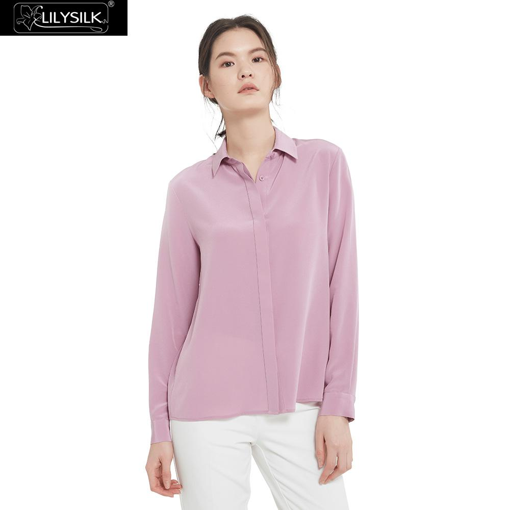 LilySilk Shirts Blouse Women Long Sleeve Soft Versatile Silk Girl Free Shipping