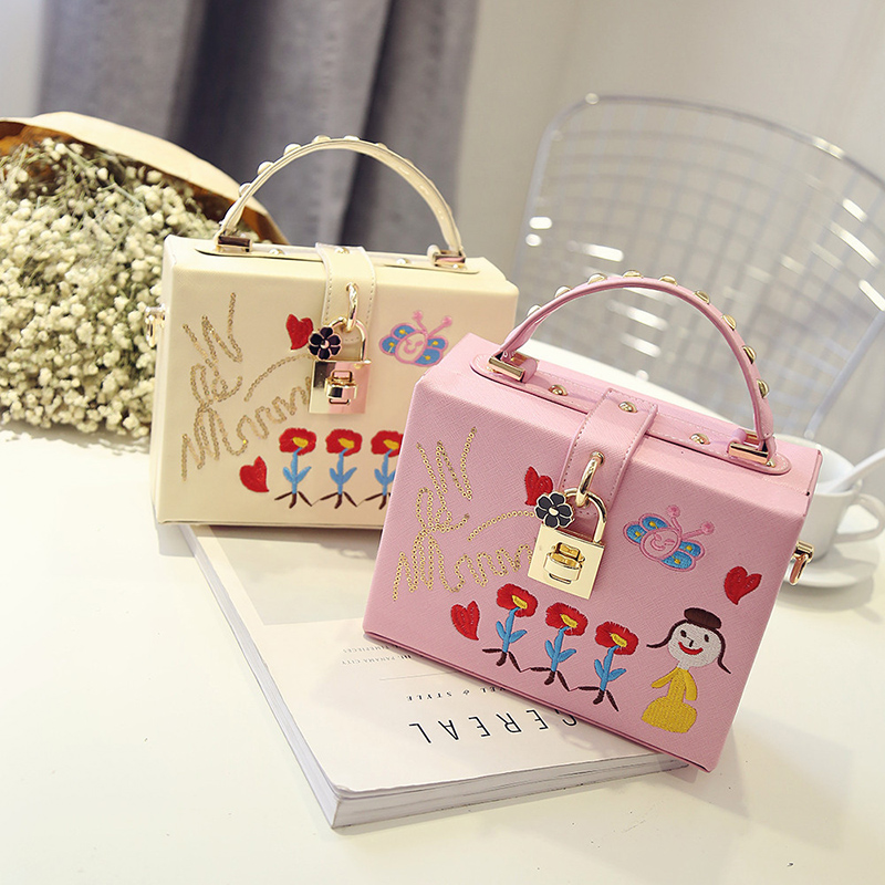 High quality flowers and sweet heart little gir women bag women messenger bags handbag cross body bag dollar price