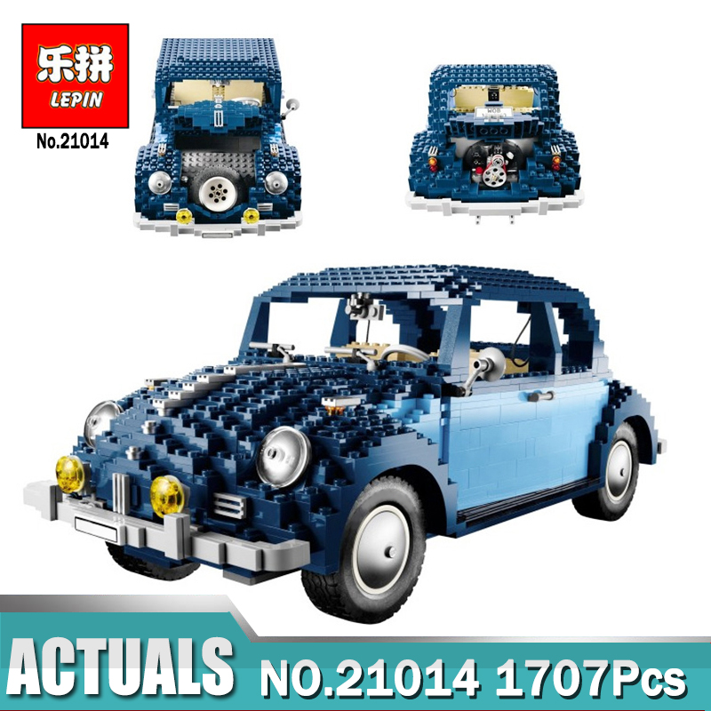 1707Pcs New Lepin 21014 Classic Beetle Model car Building Kits Blocks Bricks for Children Christmas gifts LegoINGlys 10187 1707pcs new lepin 21014 classic beetle model car building kits blocks bricks for children christmas gifts legoinglys 10187