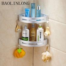 BAOLINLONG Styling Space Aluminum Shelf Brushed Bathroom Shelves Cosmetic Accessories