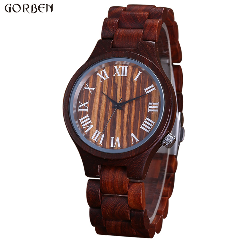 Unique Natural Wood Design Men's Watch Full Bamboo Cool Male Quartz Wristwatch Gifts Wooden Bracelet Strap Clock Watches Relogio unique natural wood sunglasses