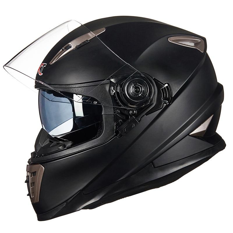 Double Lens full face motorcycle helmet with Sheld lock system GXT 999 motorbike helmet moto casco 1000m motorcycle helmet intercom bt s2 waterproof for wired wireless helmet