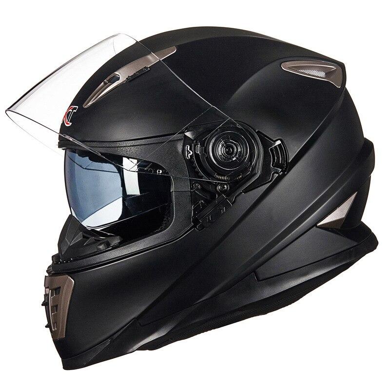Double Objectif plein visage moto casque avec Sheld serrure système GXT 999 moto casque moto casco