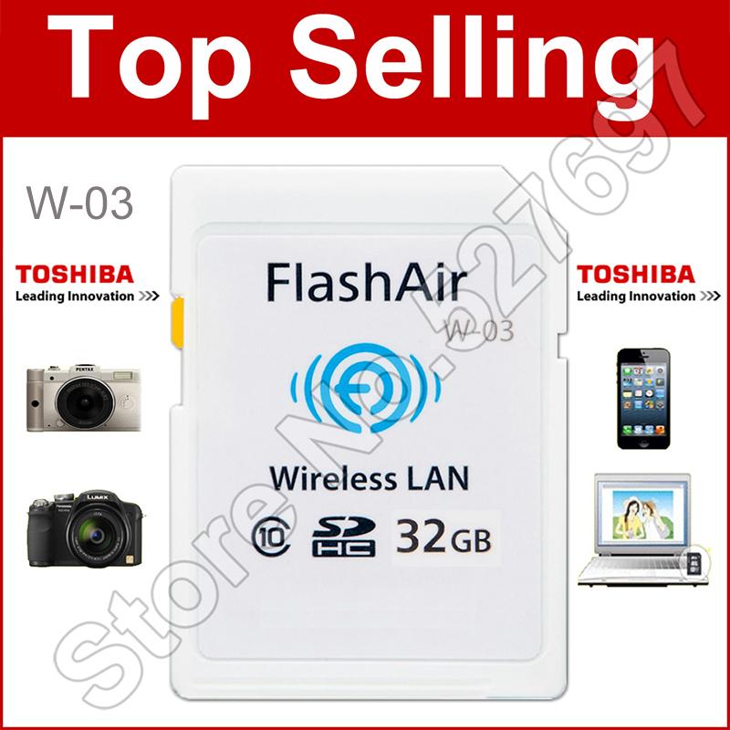 Prix pour WIFI télécharger photo vidéo pour téléphone etc!!! WI-FI Carte Mémoire 8G 16 GB 32 GB WIFI SD Carte FlashAir Classe 10 SDHC Carte Mémoire Flash