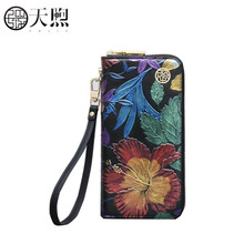New fashion Leather bag luxury Genuine Leather bag women bags designer embossed flower Leather wallets women handbags clutch bag naisibao 2018 new top cowhide women genuine leather bag embossed fashion luxury handbags designer women leather shoulder bag