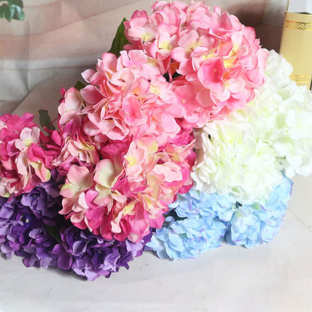 ⃝2017 Hot European 6 heads bride hydrangea flower home table ...