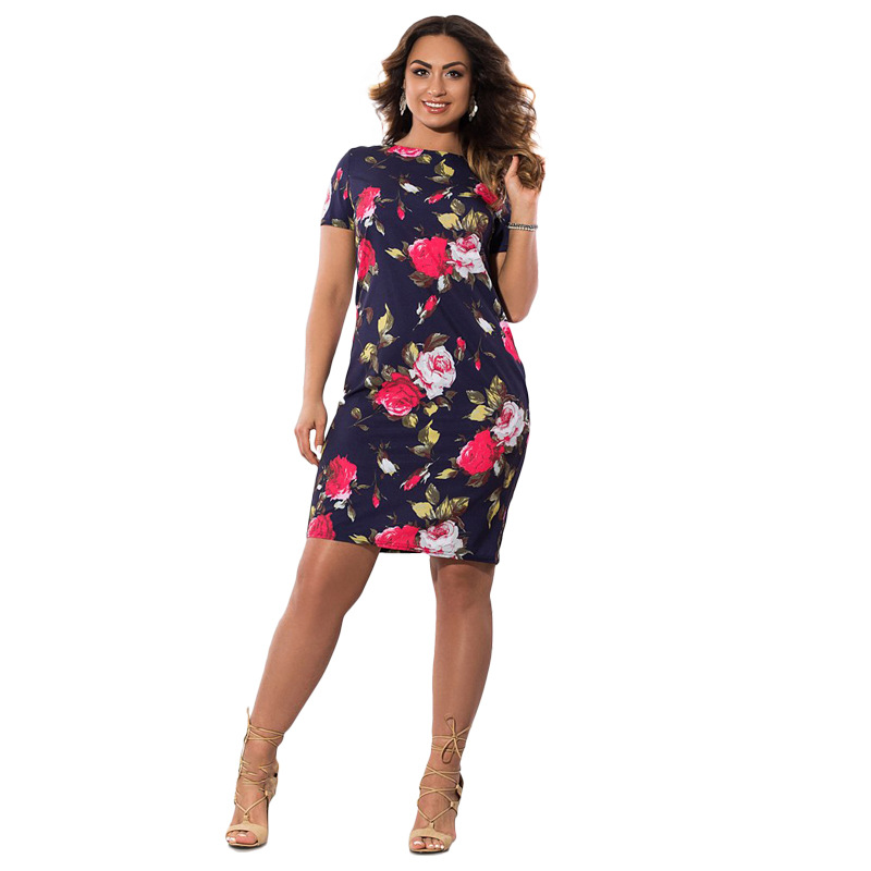 HTB1OUvVXhHBK1JjSZFuq6xRSpXaJ 2019 Autumn Plus Size Dress Europe Female Fashion Printing Large Sizes Pencil Midi Dress Women's Big Size Clothing 6XL Vestidos