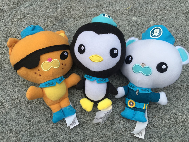 Original Octonauts 7 Plush Dolls Barnacles Kwazii Peso 3pcs New