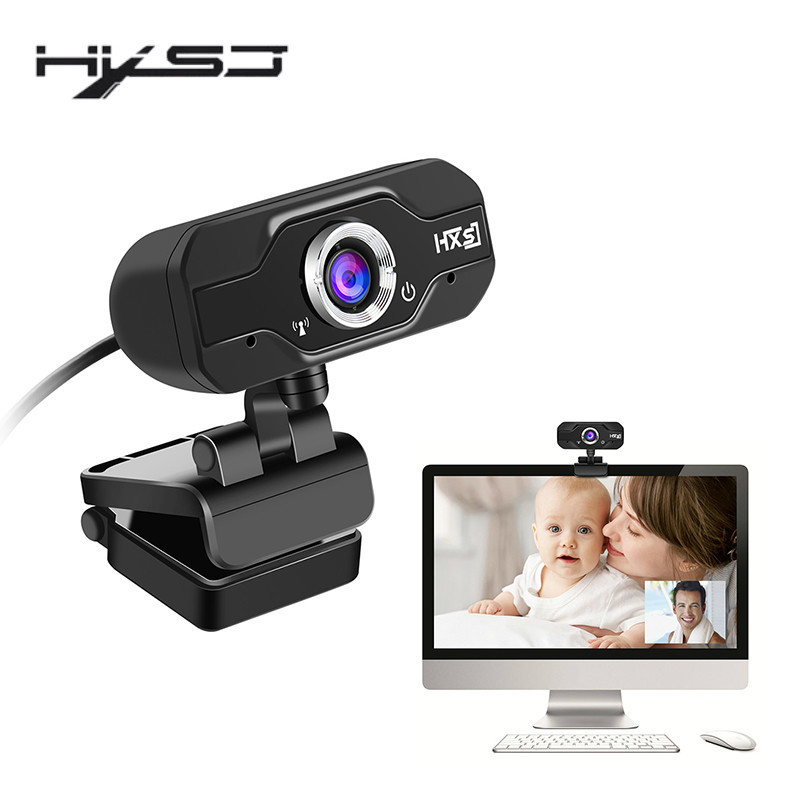 HXSJ S50 1280 * 720 Dynamic Resolution USB Web Camera 720P HD 1MP Computer Camera Webcams Built-in Sound-absorbing Microphone