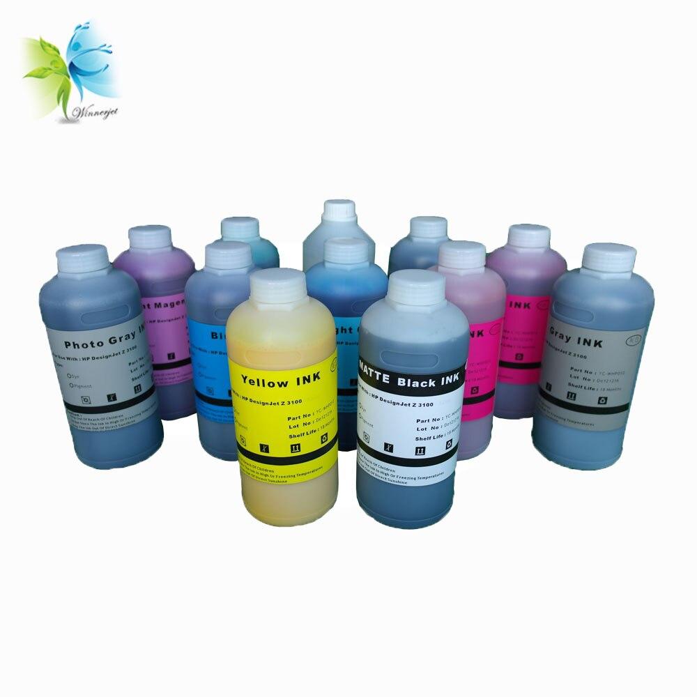 Winnerjet Water Transfer Printing Kit Printer ink for HP Designjet z3100 Pigment Ink 1000ml Bottle Ink