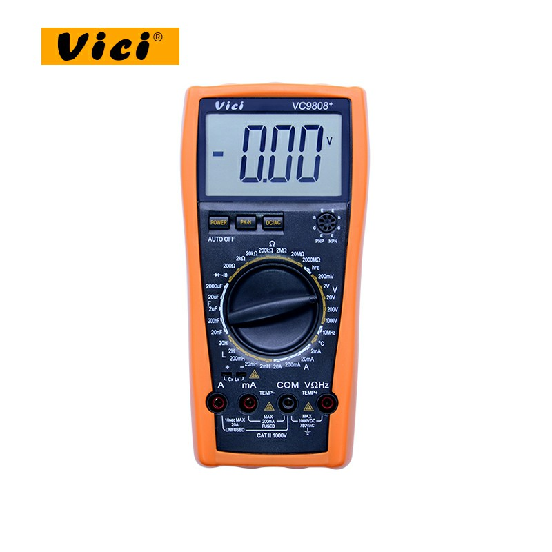 3 1/2 Digital multimeter Electrical Meter Inductance Res Cap Freq Temp AC/DC Ohmmeter Inductance Tester VICI VC9808+