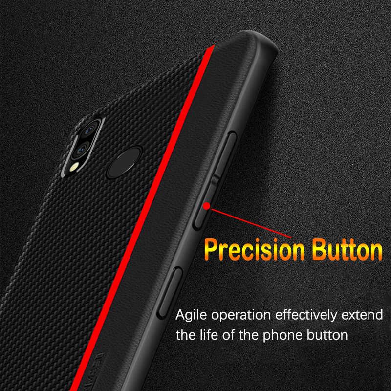 Untuk Xiaomi Redmi Note 7 8 Pro Case Serat Kulit Penutup untuk Redmi Note 7 Versi Global untuk Redmi Note 7 6 5 K20 Pro 6A 7A Case